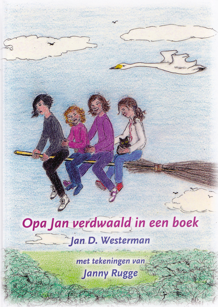 Opa Jan verdwaald in een boek
